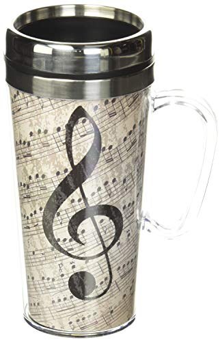 Spoontiques - Insulated Travel Mug - Music Coffee Cup -...