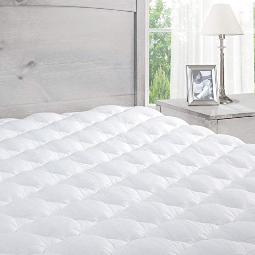 ExceptionalSheets Pillowtop Mattress Topper with Fitted Skirt - Extra Plush Mattress Pad Found in Marriott Hotels - Hypoallergenic - Made in The USA - Twin