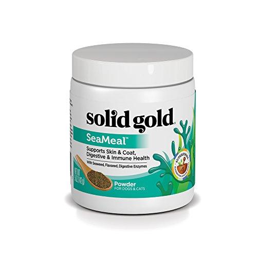 Solid Gold Dog & Cat Supplements for Skin & Coat, Digestive & Immune Health; SeaMeal Powder, 5oz