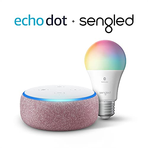 Echo Dot (3rd Gen) - Smart speaker with Alexa - Plum Sengled Bluetooth Color bulb