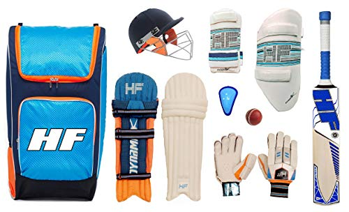 HF DYNAMIK English Willow Complete Cricket KIT (. Boy's Set of 5 NO (Ideal for 10-12 Years))