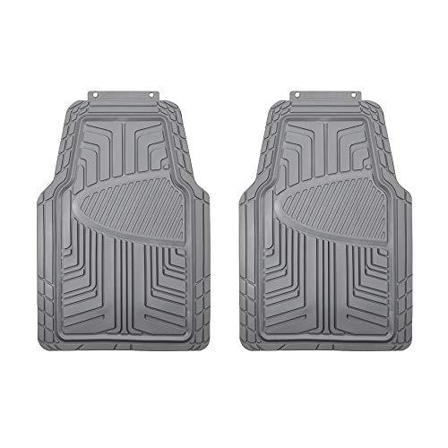 AmazonBasics - Set da 2 tappetini in gomma per auto, SUV, camion, per tutte le stagioni, grigio