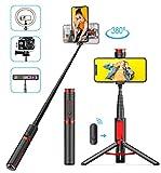 BAOLIDA Perche Selfie Bluetooth, 3 en 1TrépiedSmartphone Mini Selfie...