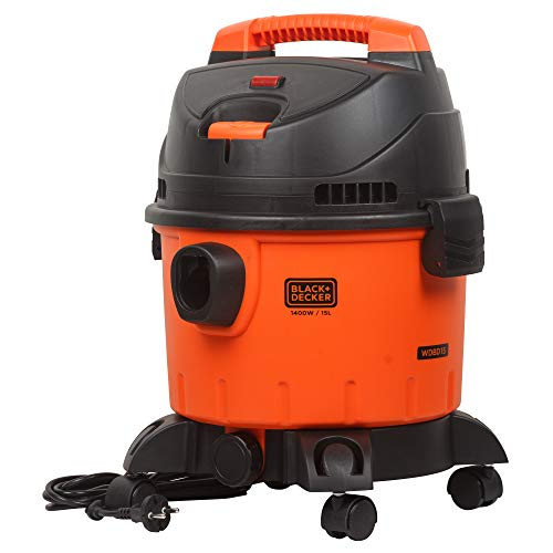BLACK+DECKER WDBD15 15-Litre, 1400 Watt, 16 KPa High Suction Wet and Dry Vacuum Cleaner and Blower...