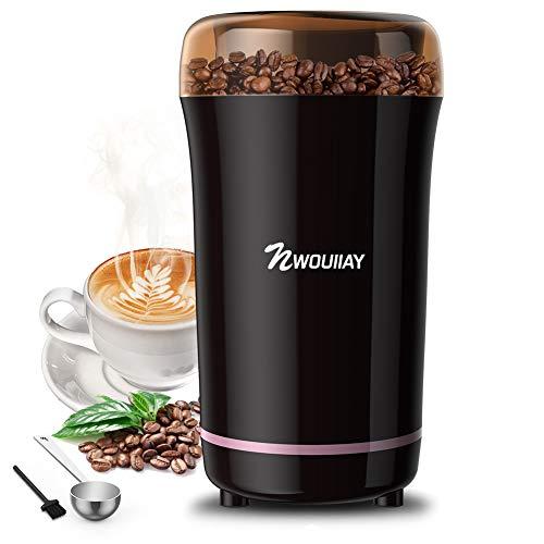 Macinacaff Elettrico 300W con Lama in Acciaio Inossidabile Detachable Power Cord Coffee Grinder per...