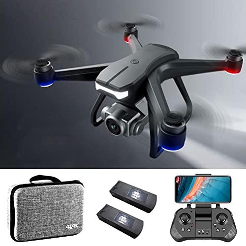 ANAN Quadricottero con Motore Brushless, 6K Drone con GPS Telecamera, Drone GPS Professionale con Telecamera ESC a 90 , RC Drone con Giunto cardanico Anti-Shake, Doppio Posizionamento