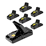 Mouse Trap, Mouse Traps That Work Small Mice Trap Outdoor Indoor Best Snap Traps for Mouse/Mice Safe and Reusable 6 Pack Quick Kill Mice Traps