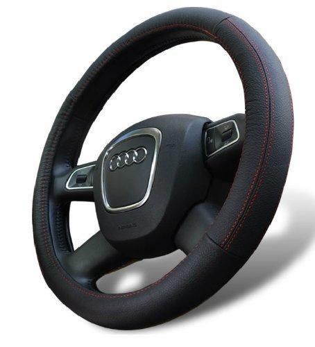 D8 Genuine Leather Steering Wheel Cover for Jeep Universal...