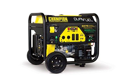 Champion 7500-Watt Dual Fuel Portable Generator with Electric Start