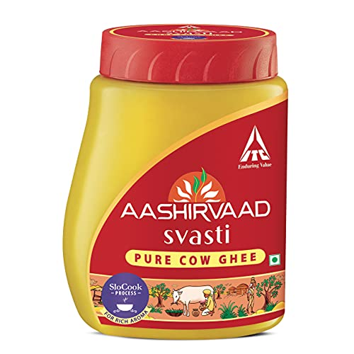 Aashirvaad Svasti Pure Cow Ghee, Pet Pack 1L, Desi Ghee with Rich Aroma