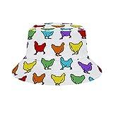 Yuanmeiju Cubo de Sombrero para el Sol Style Men Women Foldable Sombrero de Playa de Pescador Sun Protection Heaps of Orange Monarch Butterflies