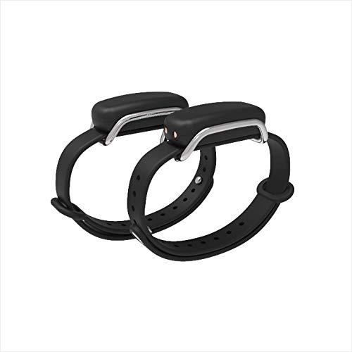Bond Touch in Black - Pair of Bracelets, Silver/Silver Loop...