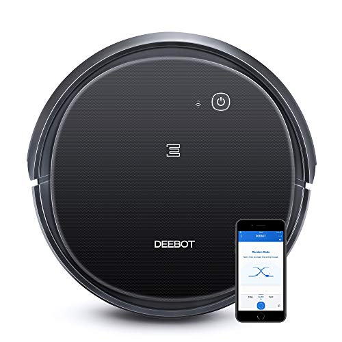 Ecovacs DEEBOT 500 Robot Vacuum Cleaner with Max Power Suction, Up to 110 min Runtime, Hard Floors & Carpets, Pet Hair, App Controls, Self-Charging, Quiet, Large, Black