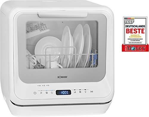 Bomann TSG 7402-Mini lavastoviglie Utilizzabile con e Senza Collegamento, 5 programmi, Serbatoio...