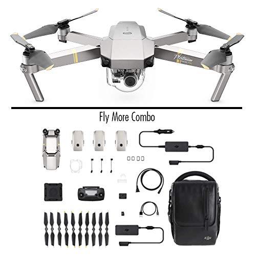 DJI Mavic Pro Platinum Fly More Combo (Versione EU) - Drone Quadricottero, Rumorosit 4 dB, Durata Batteria in Volo 30 Minuti, Radiocomando e Videocamera 4K, Portata 7 Km, Immagine 12 MP - Grigio