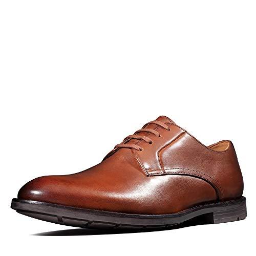 Clarks Ronnie Walk, Zapatos de Cordones Derby, Marrón (British Tan Lea British Tan Lea), 45 EU