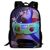 shenguang Toy Story Buzz Lightyear Mochila de Viaje para Adultos se Adapta a Mochilas para portátiles de 15,6 Pulgadas, Mochila Escolar, Mochila Informal para Hombres y Mujeres