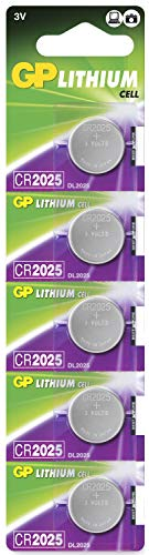 Pilas CR2025 - Pack de 5 | GP Extra| Litio CR 2025 3V- Botó