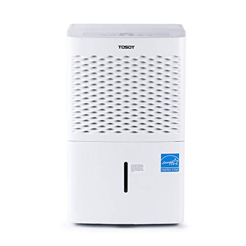 TOSOT 3,000 Sq Ft Energy Star Dehumidifier - for Home, Basement, Bedroom or Bathroom - Super Quiet, 35 Pint-2019 DOE (Previous 50 Pint)