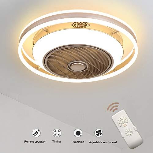 Deckenventilatoren mit Beleuchtung, 36W Creative Invisible Fan LED Deckenleuchte Fernbedienung Dimmbar Ultra-leiser Lüfter Kronleuchter Wohnzimmer Schlafzimmer Kinderzimmer Deckenventilator Lampe