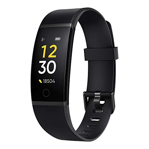 realme Band (Black) - Full Colour Screen with Touchkey, Real-time Heart Rate Monitor, in-Built USB...