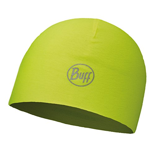 Buff Unisex's Micro Fibre Headwear, Reversible R-Solid Yellow Fluorescent, One Size