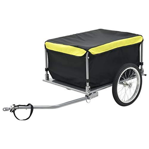 vidaXL Fahrradanhänger 65kg Transportanhänger Handwagen Fahrrad Lastenanhänger