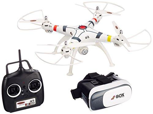 Jamara 422035 - Payload GPS Altitude HD Wifi VR - Position Hold, Coming Home, Bussola, Avviso bassa tens, 3 mod. volo, 40 KM/h, Cambio rapido elica