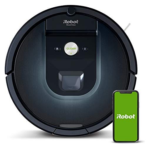 IRobot Roomba 981 Robot Vacuum Cleaner High Power and Power Boost, Recharge and keep cleaning, Optimal pets, Anti-tangle brushes, Dirt Detect, Personalized suggestions, Compatible voice assistants
