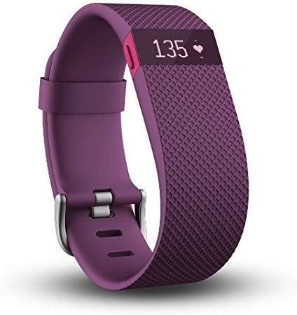 Fitbit Charge HR, Plum, Large