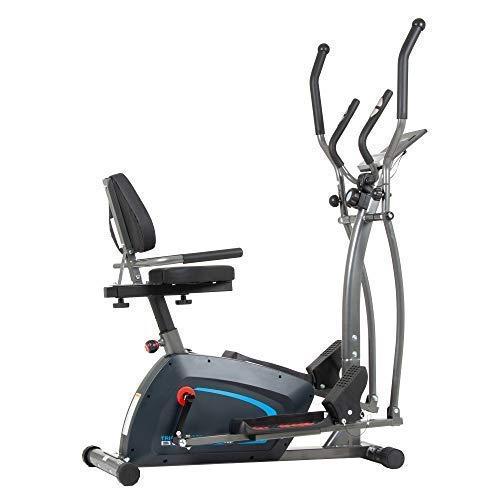 Body Champ 3-in-1 Exercise Machine, Trio Trainer, Elliptical and Upright Recumbent Bike 1