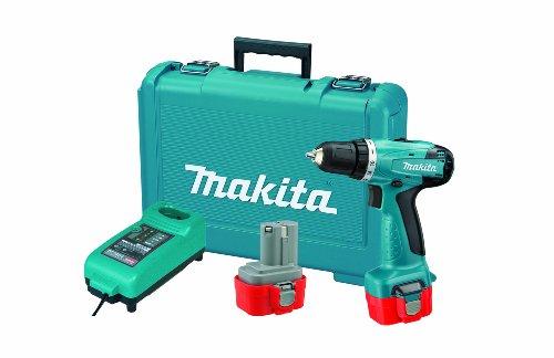 Furadeira/Parafusadeira à Bateria Makita 10MM(3/8') 6261DWPE 9,6V Carregador 220V 220V