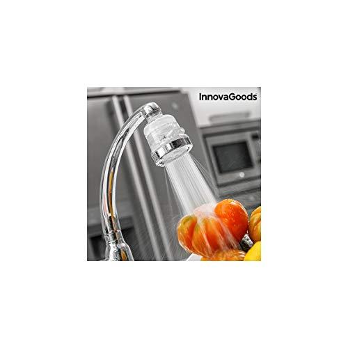 InnovaGoods Ecogrifo con Filtro Purificador de Agua, PP y PC, Transparente y Plateado, 6x6x8 cm