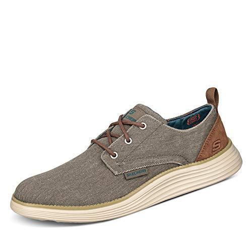 Skechers Status 2.0-Pexton, Zapatos de Cordones Derby Hombre, Multicolor (TPE Black Canvas), 43 EU
