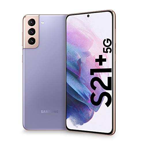 Samsung Smartphone Galaxy S21+ 5G, Caricatore incluso, Display 6.7' Dynamic AMOLED 2X, 4 fotocamere, 128 GB, RAM 8GB, 4800mAh, Dual SIM + eSIM, (2021) [Versione Italiana], Viola (Phantom Violet)