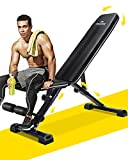 MaxKare Weight Bench Adjustable Foldable Incline Decline Bench, 882lbs Capacity, 7+3+2 Positions Automatic...