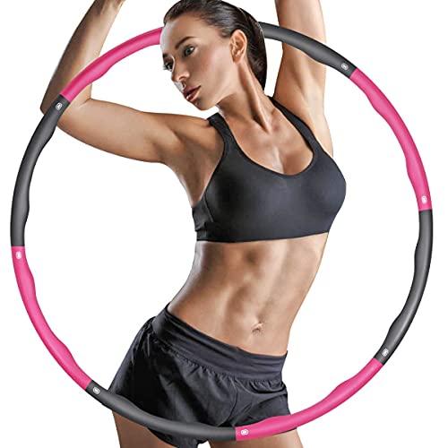 ZIMAIC Hula Hoop Reifen, Hula Hoop für Erwachsene & Kinder zur Gewichtsabnahme und Massage, 6-8 Segmente...