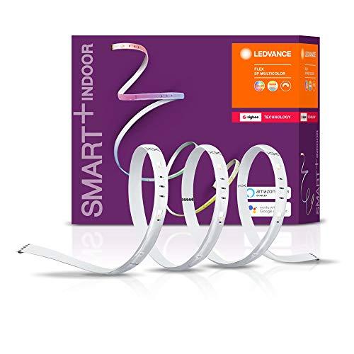 LEDVANCE Smart+ LED Streifen, ZigBee, warmweiß bis tageslicht (2700K - 6500K), Farbsteuerung, Länge 3x60cm, Direkt kompatibel mit Echo Plus und Echo Show (2. Gen.), Kompatibel mit Philips Hue Bridge