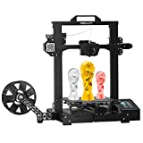Creality Official 3D Printer CR-6 SE Upgraded Auto Leveling Silent Motherboard Easy Assembly Dual Z-axis and Meanwell Power Supply Large 3D Printer 235 x 235 x 250mm