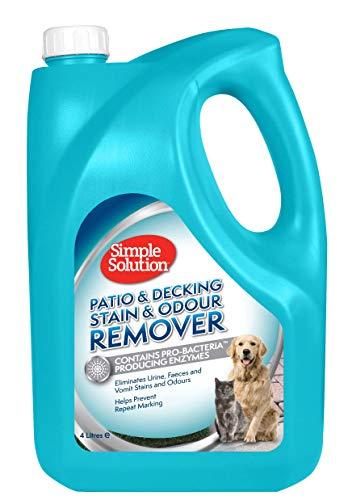 Simple Solution Patio y removedor de Manchas y olores para Mascotas, 4 L