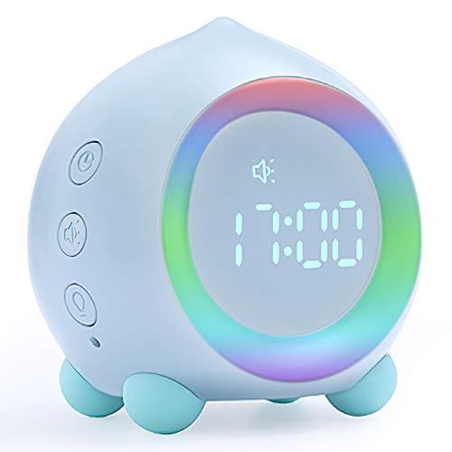 Despertador digital para niños con luz para despertar...