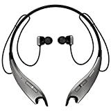 Mpow Jaws Gen-3 Bluetooth Headphones, Wireless Neckband Headphones 13H Playtime, Bluetooth Headset W/Call Vibrate Alert & CVC 6.0 Noise Cancelling Mic, Bluetooth Earbuds Magnetic, Light Gray