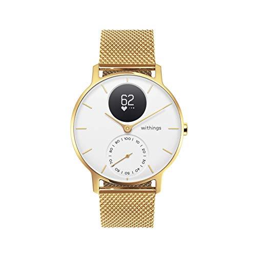 Withings Steel HR Hybrid Smartwatch - Fitnessuhr mit Herzfrequenz und Aktivitätsmessung , 36mm - Limited Edition, gold Armband