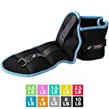 Ankle Weight Pair 3 LBS by Day 1 Fitness, Set of 2 with Adjustable Velcro Straps - Breathable, Moisture Absorbent Weight Straps for Men and Women - Comfortable Ankle, Wrist Weights