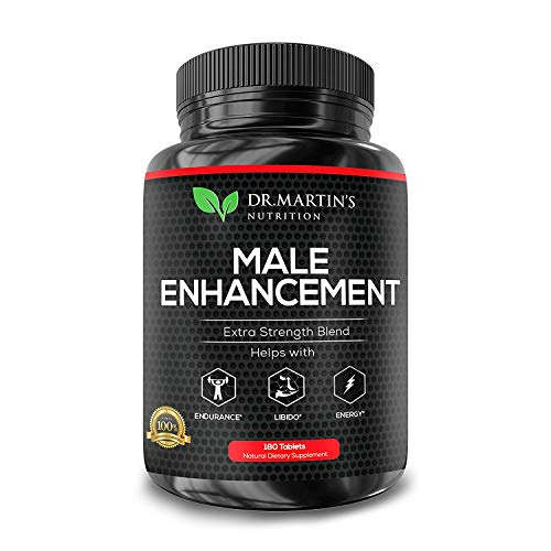 Male Enhancement Supplement | 180 Capsules | 3 Month Supply | Boosts Energy, Testosterone, Endurance & Enhances Muscle Growth | with Gingseng, Maca, Tongkat Ali | Healthy Weight Loss and Fat Burning 1