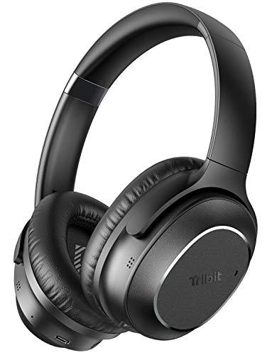 Active Noise Cancelling Kopfhörer, Tribit QuietPlus 72 Bluetooth 5.0 Kopfhöre, 32dB Hybride Lärmunterdrückung, CVC8.0 Hi-Fi-Sound, 30 Std. Spielzeit, Faltbare ANC Kopfhörer für die Arbeit im Flugzeug