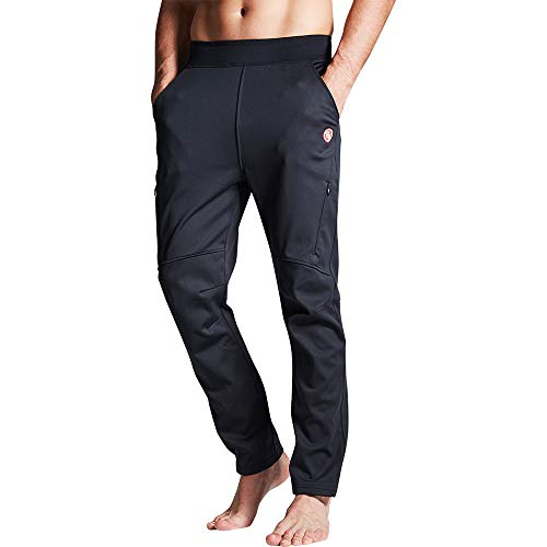 Souke's Sports Men's Winter Cycling Pants - Windproof, Thermal, Breathable