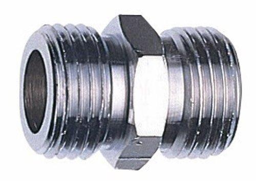 SANEI 配管継手 平行ニップル 呼び13 ネジサイズ:G1/2 パッケージ入り PT206-13
