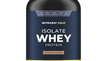 Nutrabay Gold 100% Whey Protein Isolate – Rich Chocolate Creme, 1kg