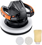 Waxer Polisher 1.1Amp, 10-Inch Dual Action Random Orbital Car Buffer Polisher Waxer, 10Ft Power Cord, Variable Speed, With Polisher Pad Bonnets and Gloves, Ideal for Car Waxing - TCP01A